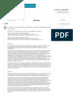 Article - Bulletin Épidémiologique Hebdomadaire