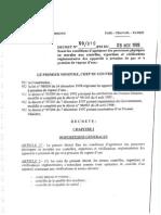 XIX-DECRET N°99_819_PM DU 09 NOVEMBRE 1999