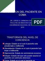 1Evaluacion Del Paciente en Coma 2015