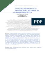 López González, Antonio María 2010 - La Evaluación Del Desarrollo de La Competencia Léxica en L2 Por Medio de La Disponibilidad Léxica