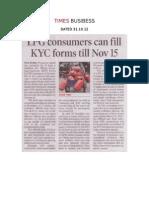 Lpg-kyc Times Busibess