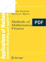 Methods of Mathematical Finance-Karatzas Shreve