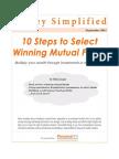 10 Steps to Select Winning Mutual Funds
