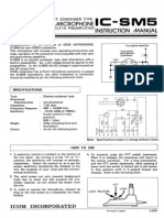Icom Sm5 Manual