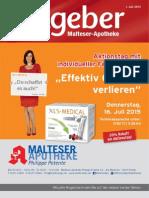 Ratgeber aus Ihrer Malteser-Apotheke – Juli 2015