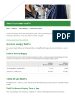July 2015 Small Business Tariffs - Ergon Energy