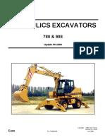 Case Hydraulics Excavators 788 988 Update 06.2000 Shop Manual