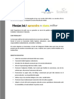Carta Informativa Families Menjador MONTBOU