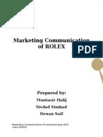 ROLEX Marketing Communications