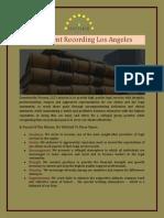 Document Recording Los Angeles