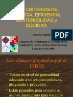 CALSE 1 B Los Criterios de Eficiencia y Eficacia.1 Equidad