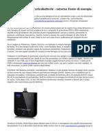 Batteria portatile Caricabatterie - esterno Fonte di energia