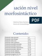 Evaluación Nivel Morfosintáctico Final - Copia