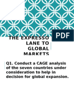 THE ESPRESSO LANE TO GLOBAL MARKETS