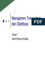 Manajemen Transportasi Distribusi