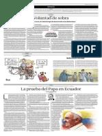 La Prueba Del Papa en El Ecuador