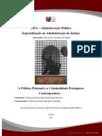 A política prisional e a criminalidade portuguesa contemporânea
