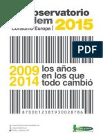 Cetelem Observatorio Consumo Europa 2015. Análisis del Consumo entre 2009 y 2014