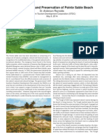 The Restoration and Preservation of Point Sable Beach