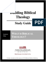Building Biblical Theology - Lesson 1 - Study Guide