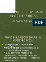 Principiile Recuperarii in Osteoporoza