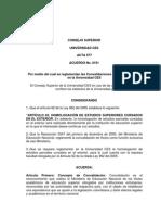 Acuerdo 0191 Reglamentan Las Convalidaciones y Homologaciones
