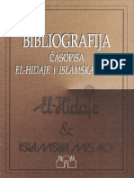 """Lavić, Osman """"Bibliografija Casopisa El-Hidaje i Islamska Misao"""""""