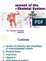 Assessment of the Musclo-Skletal System