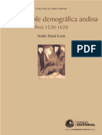 La Catástrofe Demográfica Andina - Cook, Noble David