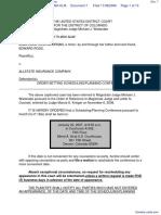 Ross-McKirnan v. Allstate Insurance Company - Document No. 7