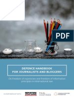 Defense Handbook for Journalists and Bloggers