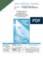 St. Timothy L.A. Feb. 14th 2010 Bulletin.