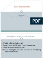 Thesis Statements PPT