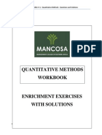 MBA 1 Quantitative Methods Workbook Jan 2015