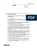 Resolucao 1378 - 2001