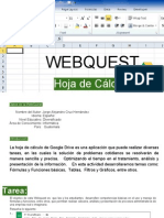 WebQuest Google Drive - Hoja de Cálculo  (funciones, filtros, gráficas)