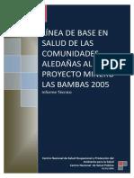 Línea de Base en Salud de Las Comunidades Aledañas Al Proyecto Minero Las Bambas 2005