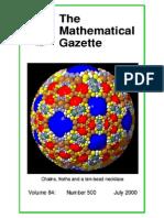 The Mathematical Gazette-chains_froths