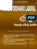 Power Ponit Proceso Ordinario Laboral