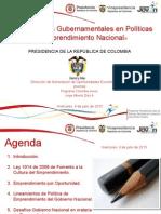 Lineamientos Gubernamentales Gobierno Emprendimiento 2011