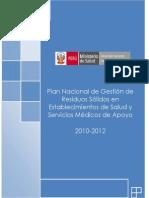 Plan de Gestion de Residuos Solidos en Establecimiento de Salud
