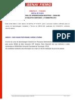 Edital Senai - 2º Semestre de 2015