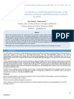 Comparative Study on the Place of Knowledge Economy at the Institutes and Departments of Sport and Physical Education in Algeria