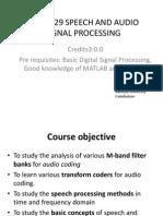 14ec3029 Speech and Audio Signal Processing