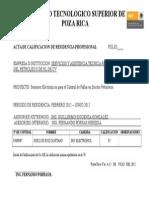 Formato de Calificación de Residencia