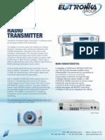 Transmisor FM para estacion de radio