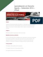 Cursos de Derecho Electoral