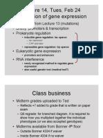 Genetics Lecture 14 2015-02-24