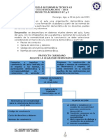 Proyecto Academico de Formacion Civica y Etica 2015 - 2016