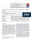 five-year study of particulate matter (PM2.5) and cerebrovascular